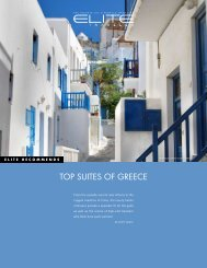 TOP SUITES OF GREECE - Elite Traveler