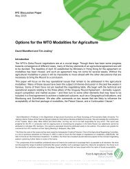 WTO Modalities - International Food & Agricultural Trade Policy ...