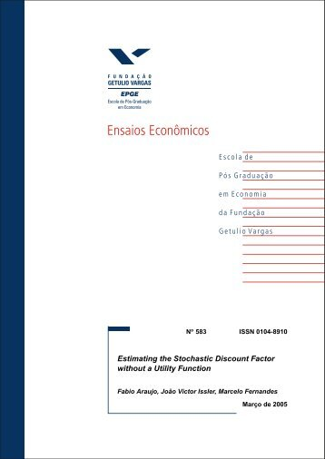 Estimating the Stochastic Discount Factor without a ... - Economics