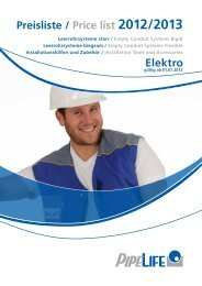 Preisliste / Price list 2012/2013 Elektro - Pipelife Deutschland