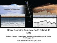 Radar Sounding From Low-Earth Orbit At 45 MHz - University of ...