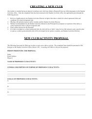 New Club Proposal Form - Adlai E. Stevenson High School