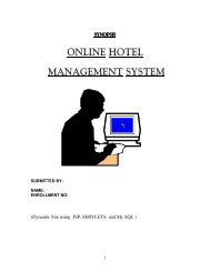 ONLINE HOTEL MANAGEMENT SYSTEM - Projects Jugaad Forums