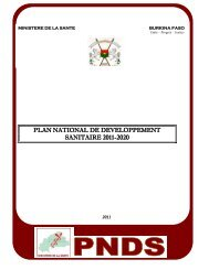 plan national de developpement sanitaire 2011-2020 - International ...
