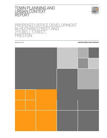 town planning and urban context report proposed ... - City of Darebin