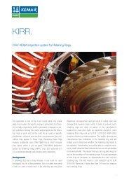 DNV KEMA Inspection system for Retaining Rings.