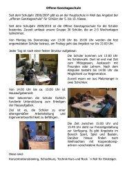 Offene Ganztagsschule Stand Nov 09