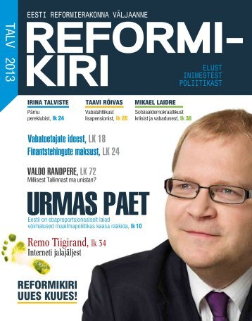 Reformikiri talv 2013(pdf, 7.1 MiB) - Reformierakond