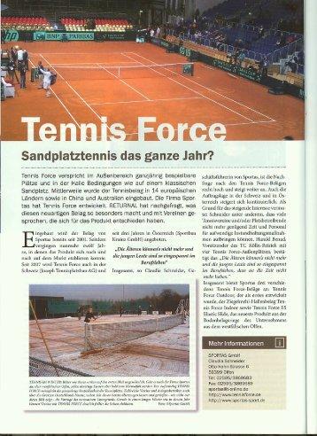 Artikel in RETURNAL 01/2013 - TCKR