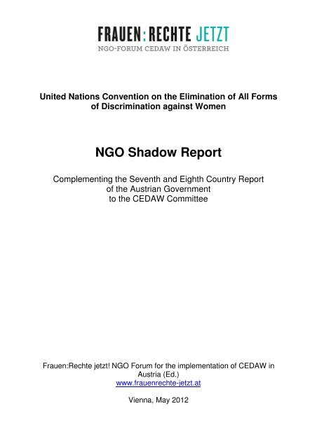 NGO Shadow Report - Ludwig Boltzmann Institut für Menschenrechte
