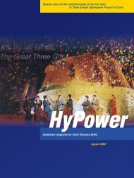 Hypower Special Issue Three Gorges, China - Voith Hydro