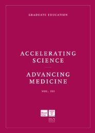 Accelerating Science, Advancing Medicine Vol. III: Graduate Education