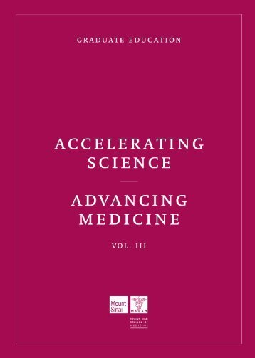 Accelerating Science, Advancing Medicine Vol. III: Graduate Education