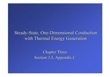 Steady-State, One-Dimensional Conduction with Thermal Energy ...