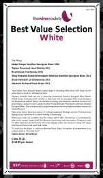 Best Value Selection April 2012 - White - The Wine Society