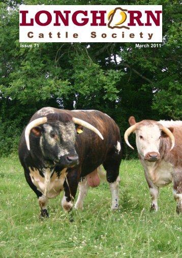 Newsletter No. 71 - Longhorn Cattle Society