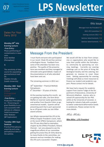 Download July 2012 Newsletter - London Petrophysical Society