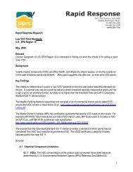 1 Rapid Response Research Low VOC Paint Standards U.S. EPA ...