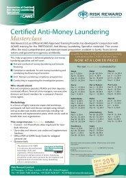 ACAMS Africa Flyer & Booking Form 2014 - Risk Reward Limited