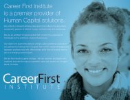 Career First Institute Corporate Brochure