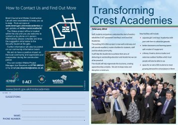 the Crest Academy newsletter Feb 2012 - Wates