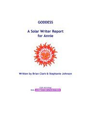 Solar Writer - Goddess - Cafe Astrology
