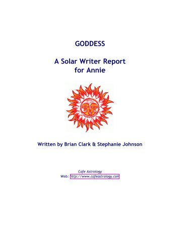 Solar Writer - Goddess - Cafe Astrology