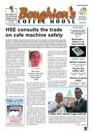 HSE consults the trade on cafe machine safety - Boughton's Coffee ...
