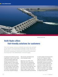 Voith Hydro offers fish-friendly solutions for customers
