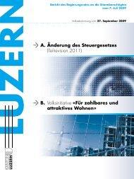 Bericht des Regierungsrates - Steuern Luzern - Kanton Luzern
