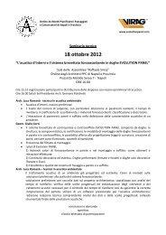 Programma di Napoli 18 ottobre 2012 - Virag