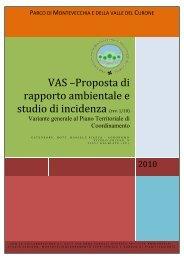 rapporto ambientale VAS PTC - Parco di Montevecchia e della Valle ...