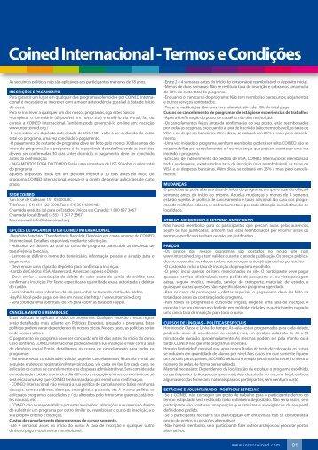 Coined Internacional - Termos e Condições