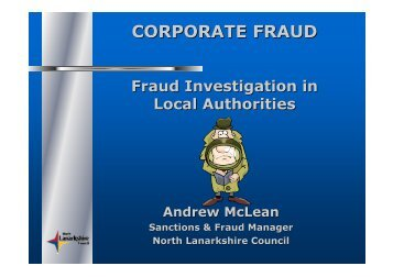 Fraud Investigation in Local Authorities