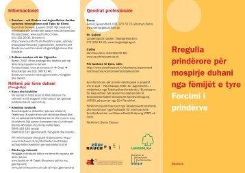 Rregulla prindërore për mospirje duhani nga fëmijët e ... - SmokeFree