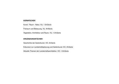 Modulfolder - Fachbereich Landschaftsplanung und Gartenkunst