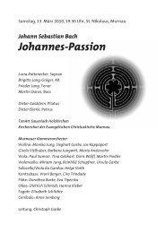 Johannes-Passion - Murnauer Kammerorchester eV