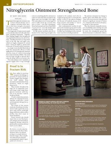 Nitroglycerin Ointment Strengthened Bone - Ob.Gyn. News