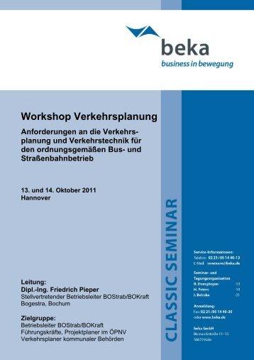 Workshop Verkehrsplanung - newstix
