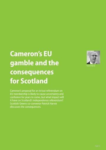 Cameron's eu gamble and the consequences for Scotland - Green ...
