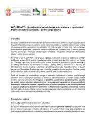 Detaljnije o konkursu - Stalna konferencija gradova i opština