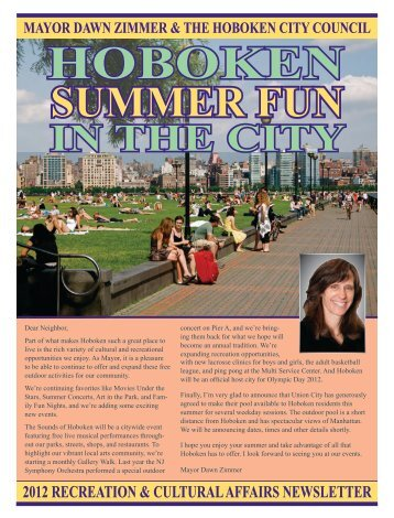 Summer Fun Calendar 2012 - Hoboken NJ