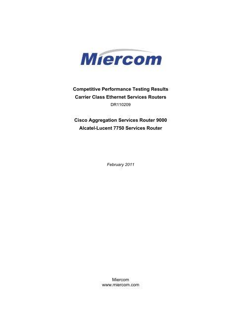 Alcatel-Lucent 7750 SR vs  Cisco ASR 9000 - BradReese Com