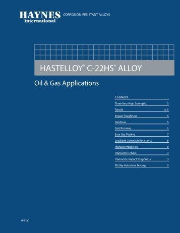 HASTELLOY C-22HS ALLOY - Haynes International, Inc.