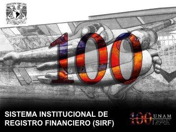 sistema institucional de registro financiero (sirf) - Dirección General ...
