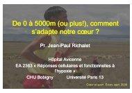 L'environnement de haute altitude - Club des Cardiologues du Sport