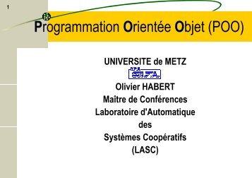 Programmation Orientée Objet - LASC
