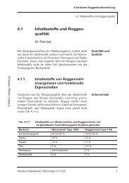 4.1 Inhaltsstoffe und Roggen- qualität