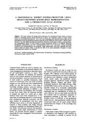 a geochemical expert system prototype using object ... - CiteSeerX