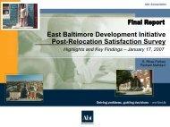 2006 Post-Relocation Satisfaction Survey